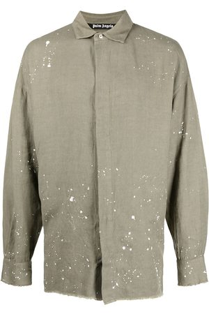 Palm Angels ORGANIC LOOSE SHIRT MILITARY WHITE
