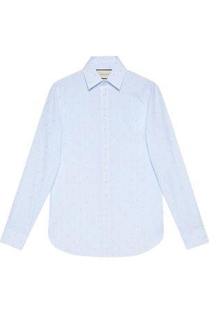 Gucci G Square stripe fil coupé cotton shirt