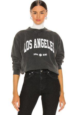 ANINE BING Ramona University Sweatshirt in - Black. Size L (also in M, S, XS).