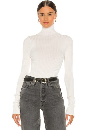 ANINE BING Clare Knit Top in - White. Size L (also in XS).