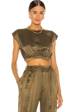 NICHOLAS Rey Top in - Army. Size 0 (also in 2, 4, 6, 8).
