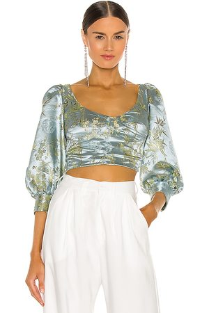 Sau Lee Jodie Blouse in - Baby Blue. Size 0 (also in 10, 2, 4, 6, 8).