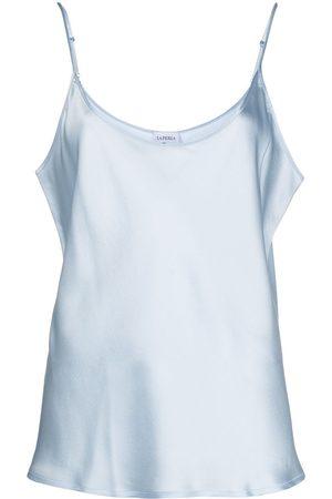 La Perla Senhora Tops de Alças - Scoop-neck satin cami top