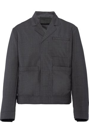 Prada Touch-strap wool jacket