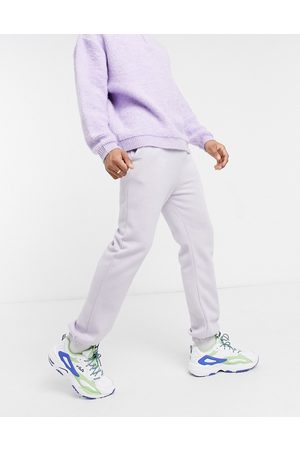 Mennace Essential joggers with script logo in mushroom-Purple