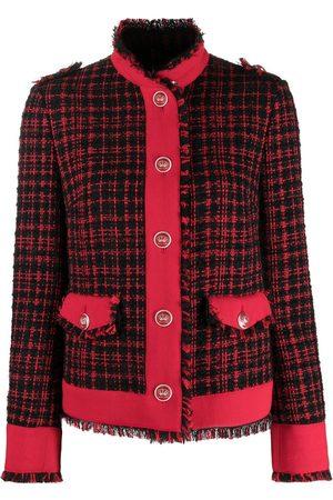 Dolce & Gabbana Frayed tweed check jacket