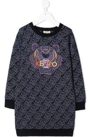 Kenzo Signature Tiger motif knitted dress