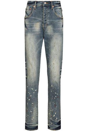 Purple Brand Homem Tapered - Vintage Spotted tapered-leg jeans