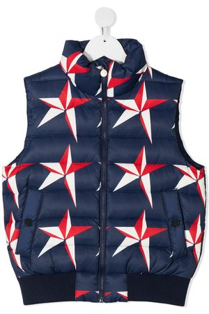 Perfect Moment Kids Menina Coletes - Star-print quilted gilet