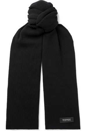 Givenchy Homem Cachecóis & Echarpes - Logo-Detailed Ribbed Wool and Cashmere-Blend Scarf