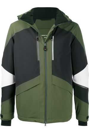Perfect Moment Colour-block panelled hooded jacket