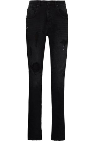Purple Brand Homem Tapered - Ripped detail jeans