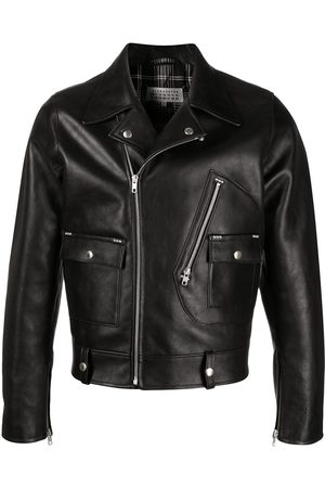 Maison Margiela Notched-lapel leather jacket