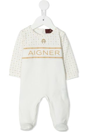 Aigner Logo-yoke babygrow