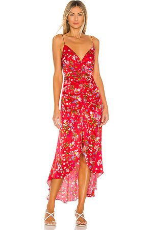 Sau Lee Sofia Dress in - Red. Size 4 (also in 8).