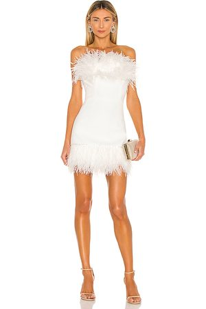 Bronx and Banco Lola Blanc Mini Feather Dress in - . Size M (also in S).