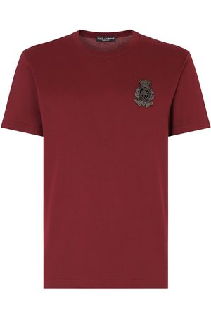 Dolce & Gabbana Cotton t-shirt with heraldic patch