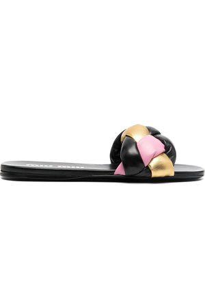 Miu Miu Knot-detail leather slides