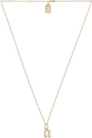 MIRANDA FRYE Senhora Colares - Gothic Charm & Van Chain Necklace in - Metallic . Size B (also in C, E, F, G, I, J, K, M, N, O, P, R, T).
