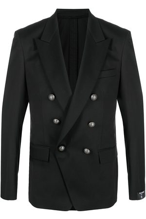 Balmain Homem Blazers - Double-breasted blazer with embossed buttons