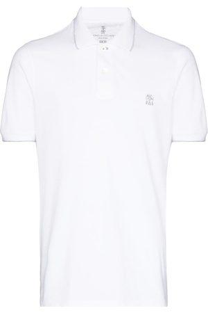 Brunello Cucinelli Logo-embroidered short-sleeve polo shirt