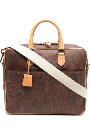 Etro Homem Pastas Negócios & Laptop - Paisley jacquard canvas briefcase