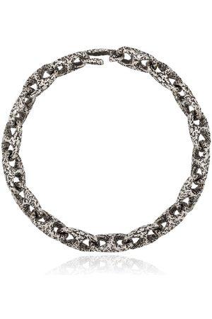M. COHEN Hammered chain-link bracelet