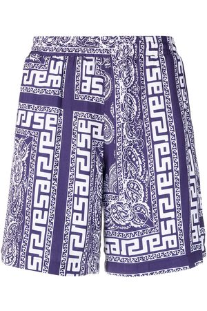 ARIES Paisley-print shorts