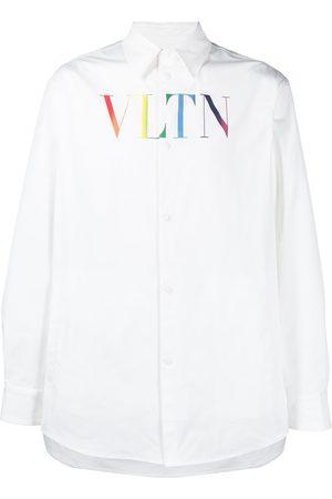VALENTINO Snap-fastening logo shirt