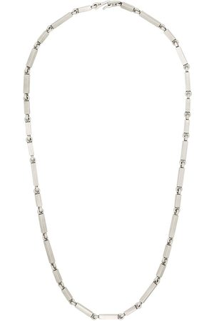 M. COHEN Homem Colares - Sterling rectangular-link necklace