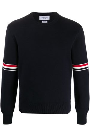 Thom Browne Milano stitch crew neck sweater