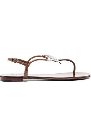 Giuseppe Zanotti Embellished thong sandals