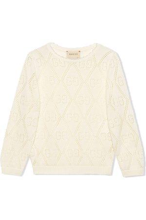Gucci Menina Camisolas com capuz - GG laser-cut sweatshirt