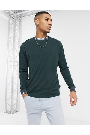 ASOS Relaxed long sleeve t-shirt in green
