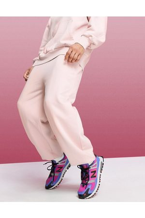 ASOS Oversized drop crotch joggers in pink