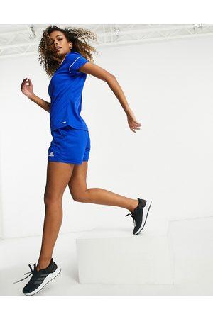 adidas Adidas Football logo shorts in blue
