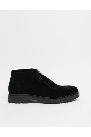 H by Hudson Strauss desert boots in black suede