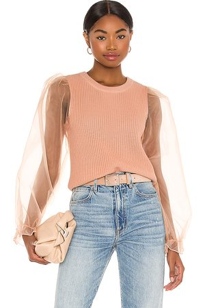 MAJORELLE Kinship Sweater in - Pink. Size L (also in M, S, XL, XS, XXS).