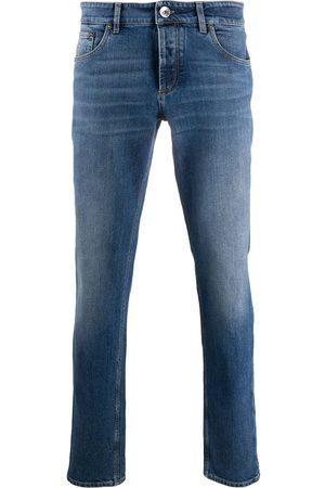 Brunello Cucinelli Homem Slim - Mid-rise slim-fit jeans