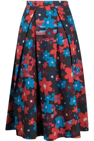 Marni Floral-print mid-length skirt