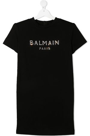 Balmain TEEN logo-print T-shirt dress