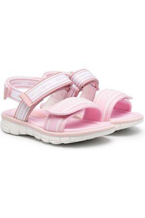 Dolce & Gabbana Kids Menina Sandálias - Double touch-strap sandals