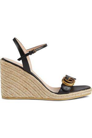Gucci Aitana 85mm espadrille wedge sandals