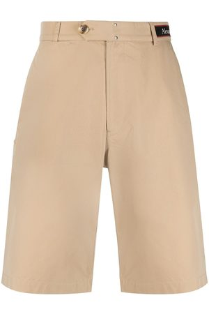 Alexander McQueen High-waist chino shorts