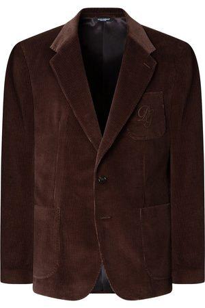 Dolce & Gabbana Logo-embroidered corduroy jacket