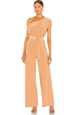 Norma Kamali X REVOLVE Drop Shoulder Jumpsuit in - Tan. Size L (also in M, S, XS).