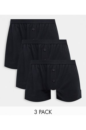 ASOS 3 pack jersey boxers in black
