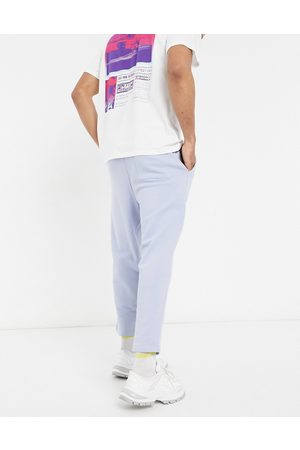 ASOS Oversized tapered joggers in pale blue