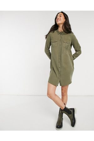 Vero Moda Shirt dress in khaki-Green
