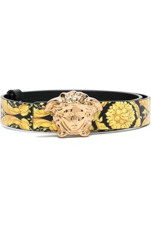 Young Versace Medusa plaque belt